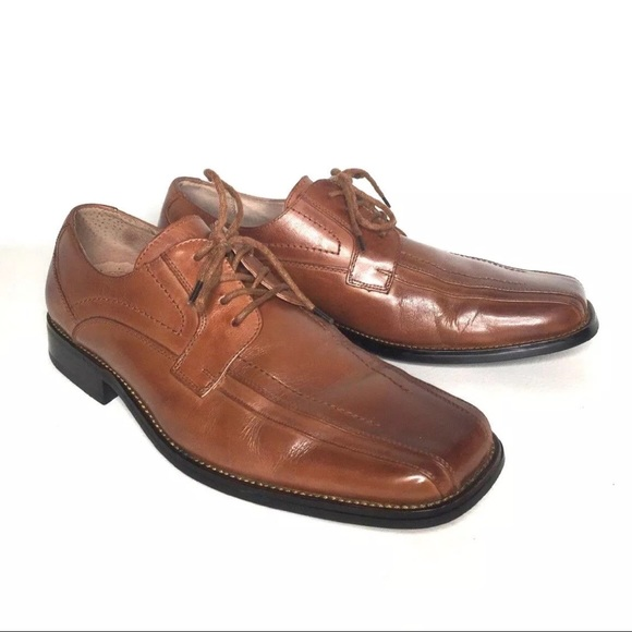Mens Brown Leather Oxfords Stacy Adams